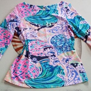 NWT Lilly Pulitzer Waverly top All That She Wants